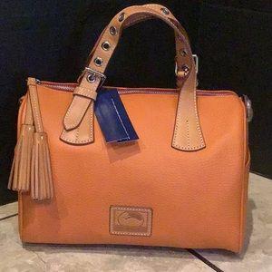 Brand new Kendra orange Satchel Dooney & Bourke